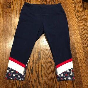 Reebok American Flag Capri Legging